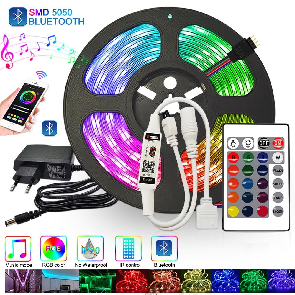 Цветная (RGB светодиодный ленты 5 м 10 м светодиодный светильники для детской комнаты на расстоянии до 20 м 15 м 12v светодиодный огни RGB Диодная ле...