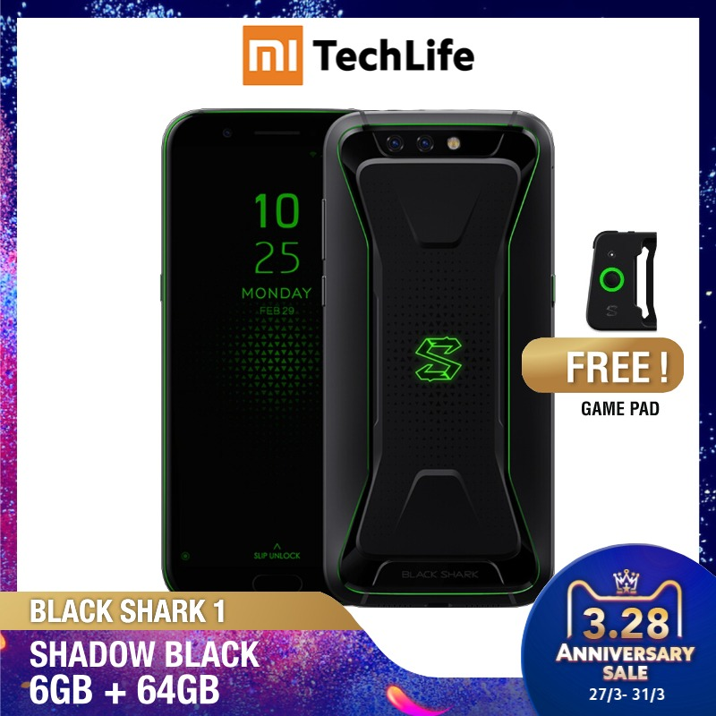 Global Version Xiaomi  Black Shark 1 64GB ROM 6GB RAM Gaming Phone (Brand New / Sealed) Blackshark1, Blackshark