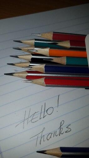 Lápis padrão escolar escolar madeira