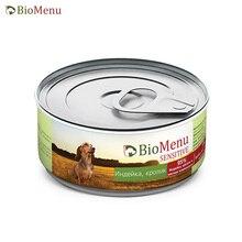 BioMenu SENSITIVE Консервы д/собак Индейка/Кролик 95%-МЯСО 100гр, 24 шт