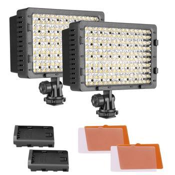 NEEWER 160 LED CN-160 możliwość przyciemniania Ultra High Panel zasilania aparat cyfrowy kamera lampa wideo LED Light do cyfrowe lustrzanki tanie i dobre opinie CN (pochodzenie) NONE 5600 K 40004082 90092298 ABS Plastic DC 7 2-8 4V 9 6 Watt 660lm 60-80mins 900Lux (1m) 240Lux (2m) 120Lux (3m) 70Lux (4m) 40Lux (5m)