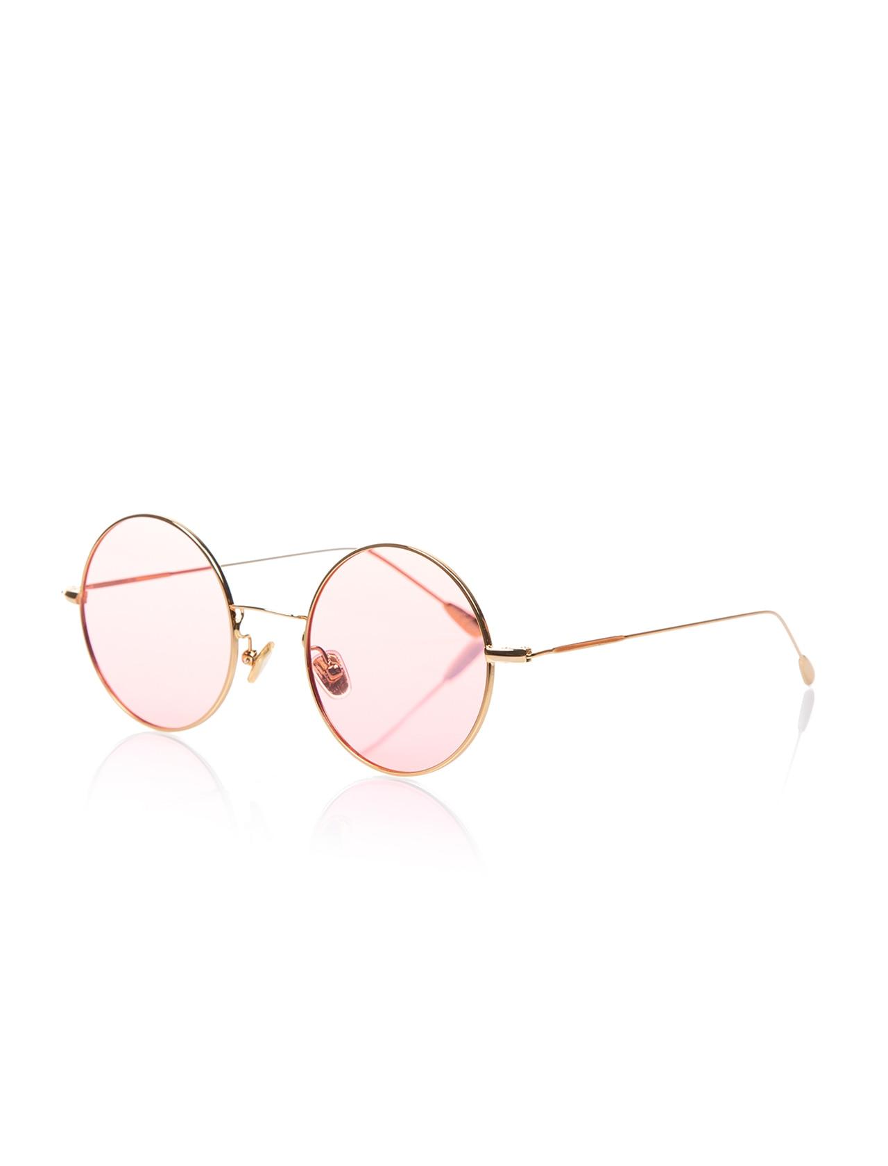 Unisex sunglasses opc 17014 05 metal yellow organic round round 50-22-145 optoline club
