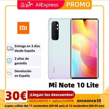 Xiaomi Mi Note 10 Lite Smartphone(6GB RAM 128GB ROM 64MP camera, mobile phone, free, new, 5260mAh battery) [Global version]