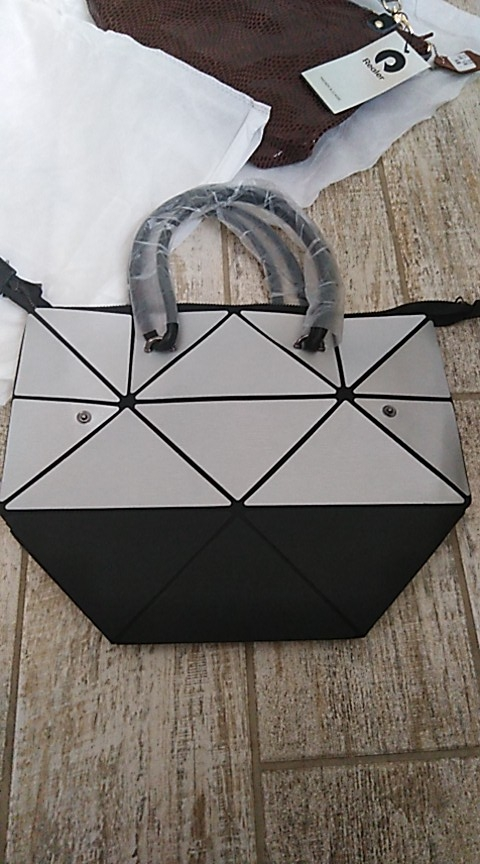Geometric Foldable Tote Bag photo review