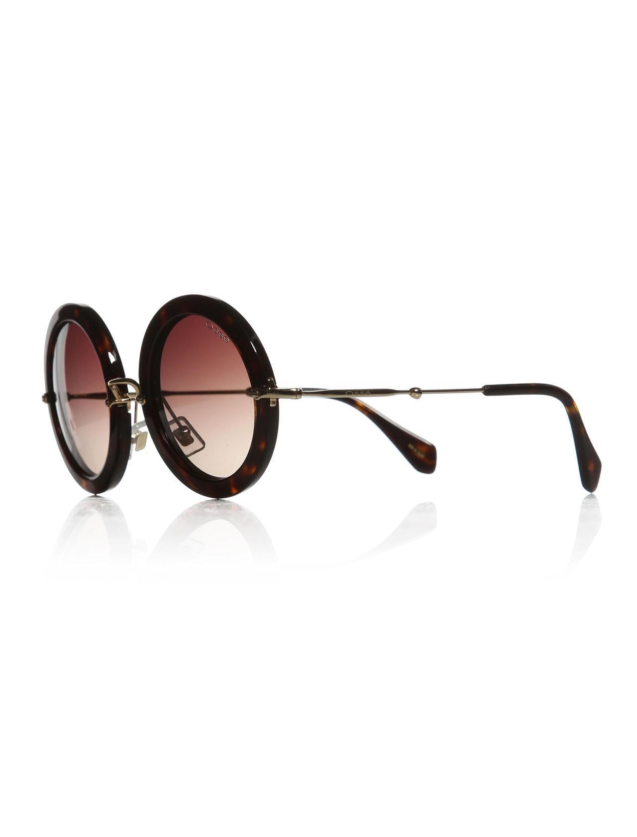 Women's sunglasses os 1748 02 bone Brown organic round round 49-24-140 osse