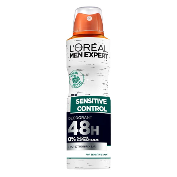 Spray Deodorant Sensitive Control L'Oreal Make Up (150 Ml)