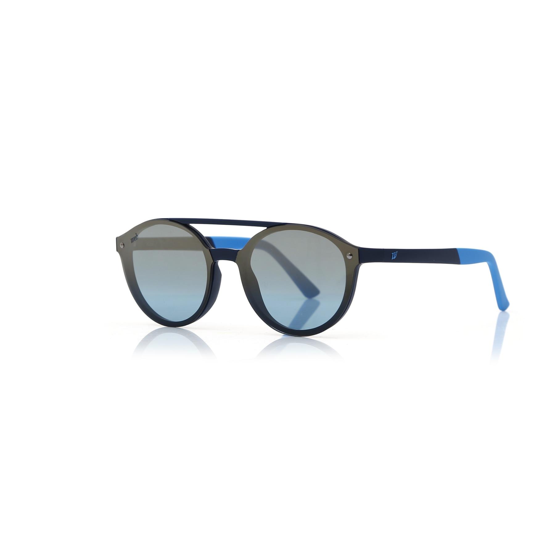 Unisex sunglasses w 0184 91x bone navy blue polycarbonate oval aval 61-12-140 web