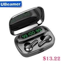 Ubeamer 블루투스 이어폰 무선 헤드폰 스포츠 방수 이어 버드 2000mAh 전원 은행 헤드셋 PC/전화 마이크