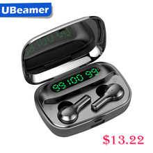 Ubeamer auriculares, inalámbricos por Bluetooth, Auriculares deportivos impermeables con cargador de batería de 2000mAh y micrófono para PC/teléfono