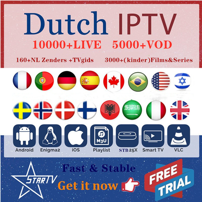 IPTV subscription 10000+Live Europe IPTV Dutch Sweden Israel Finland Nordic UK Germany France IPTV m3u Android iOS smart IPTV title=