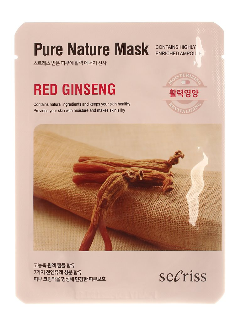 Аnskin Secriss Mask Cloth Secriss Pure Nature Mask Pack-red Ginseng 25 Ml