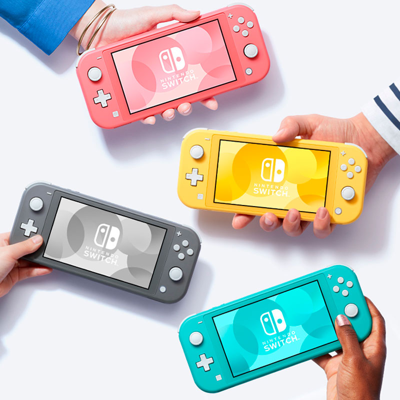 Consola Nintendo Switch Lite. Disponible en 4 colores: Amarillo, Gris, Coral y Azúl Neon. Ligera, con controles integrados.|Consolas de videojuegos| - AliExpress