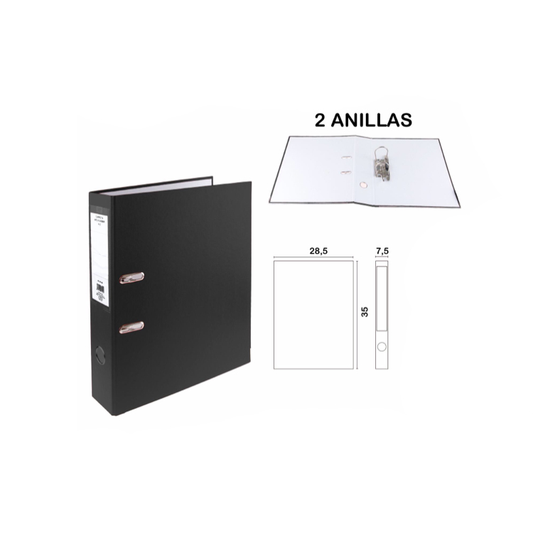 1ud Filing Cabinet Folder 2 Rings Size Folio For A4 Paper Without Sheets Office School Supplies