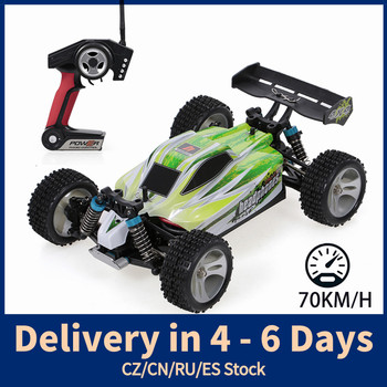 WLtoys A959-B A959-A 1:18 2.4GHz 4WD RC Car 70KM/H High Speed RC Racing Car Electric Remote Control Vehicle Off-Road Car Toys
