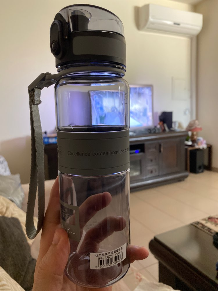 UZSPACE Water Bottle Popular Gray Men Outdoor Sport Travel My Drink Bottle Portable Leakproof Plastic Milk fruit Bottle BPA Free-in Water Bottles from Home & Garden on AliExpress