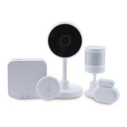 Zestaw automatyki domowej Smart Home Zigbee WiFi (5 sztuk) biały|Systemy nadzoru|   -