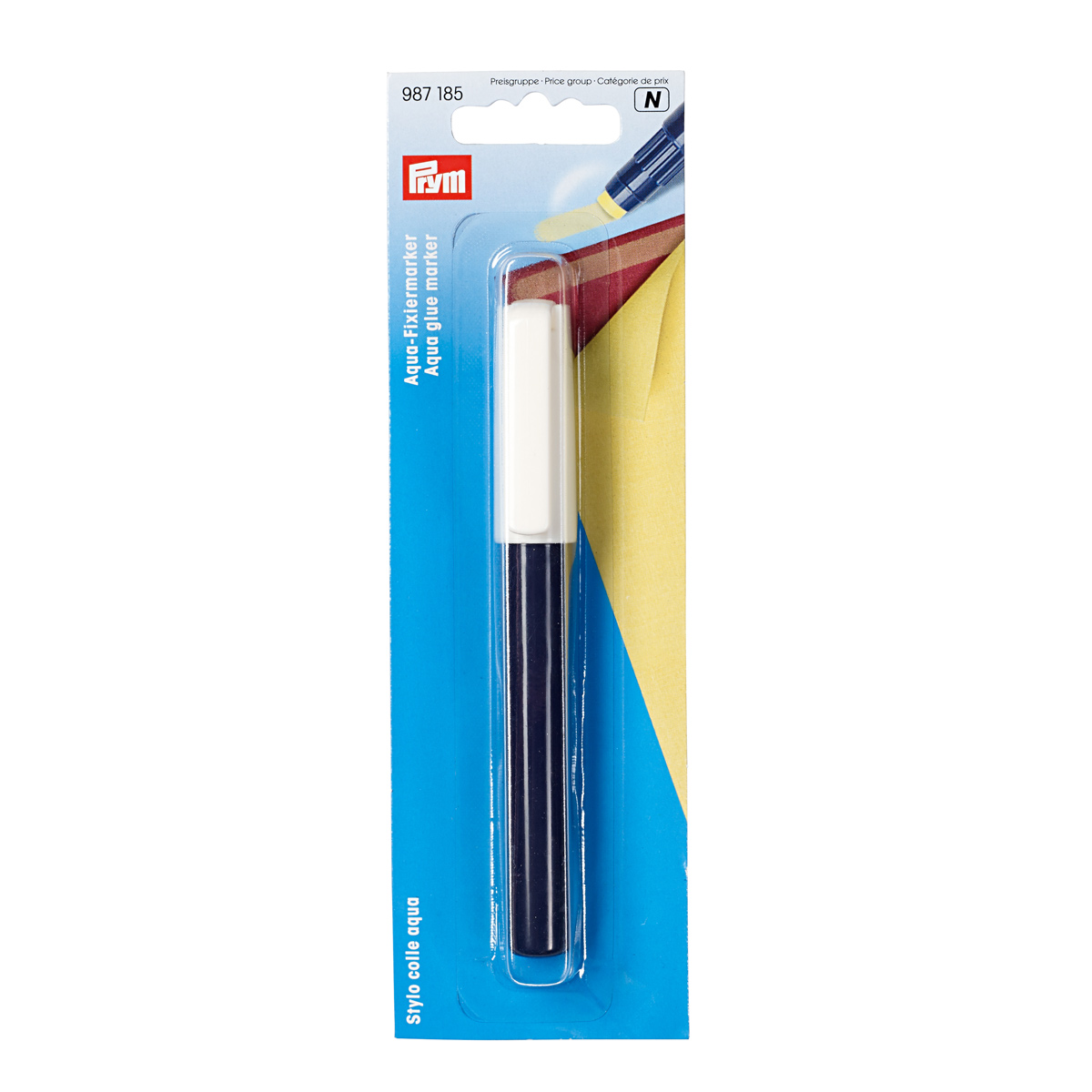987185 Glue Aqua Marker Yellow Prym