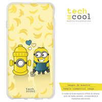 FunnyTech®Coque support Silicone pour Nokia 5.1 Plus/Nokia X5 L parodie Minion j'adore motif jaune