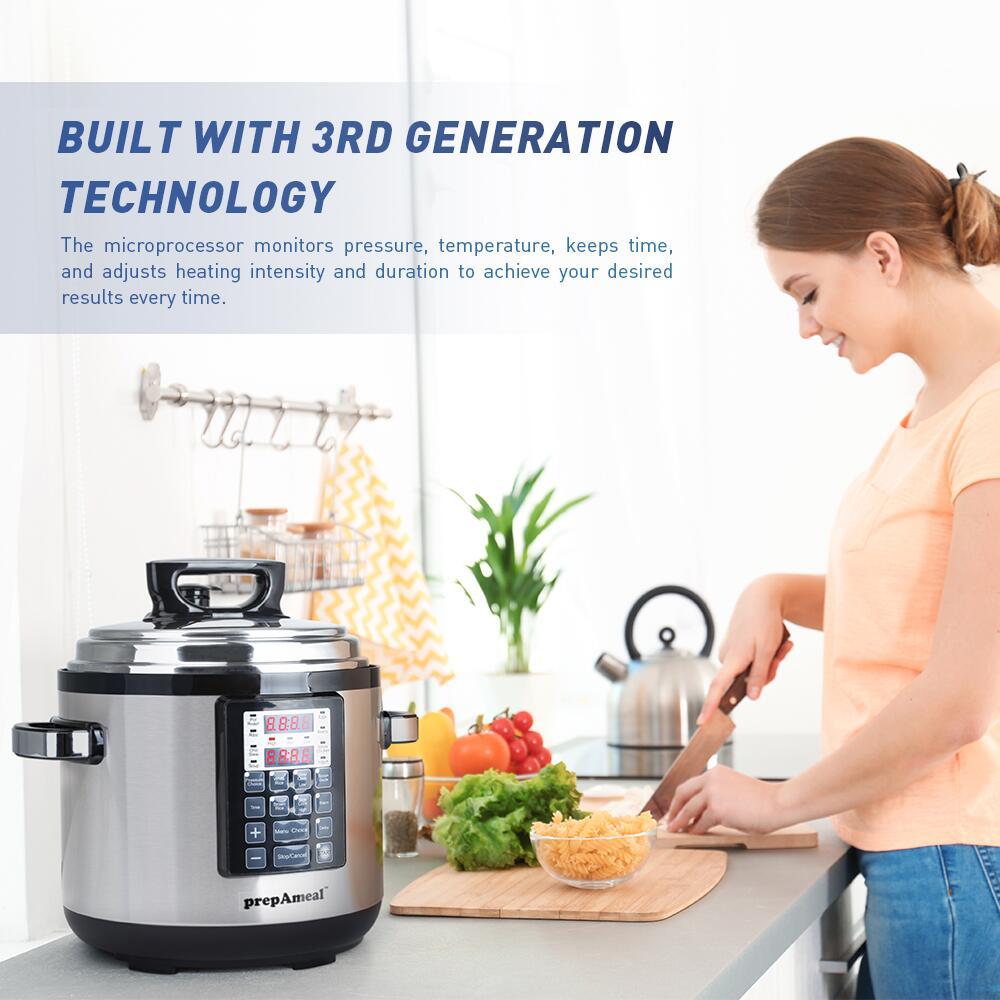 6 Qt Electric Pressure Cooker 10-in-1 Multi-Use Programmable Pressure Cooker Rice  Stew Soup Porridge Cake Maker 4