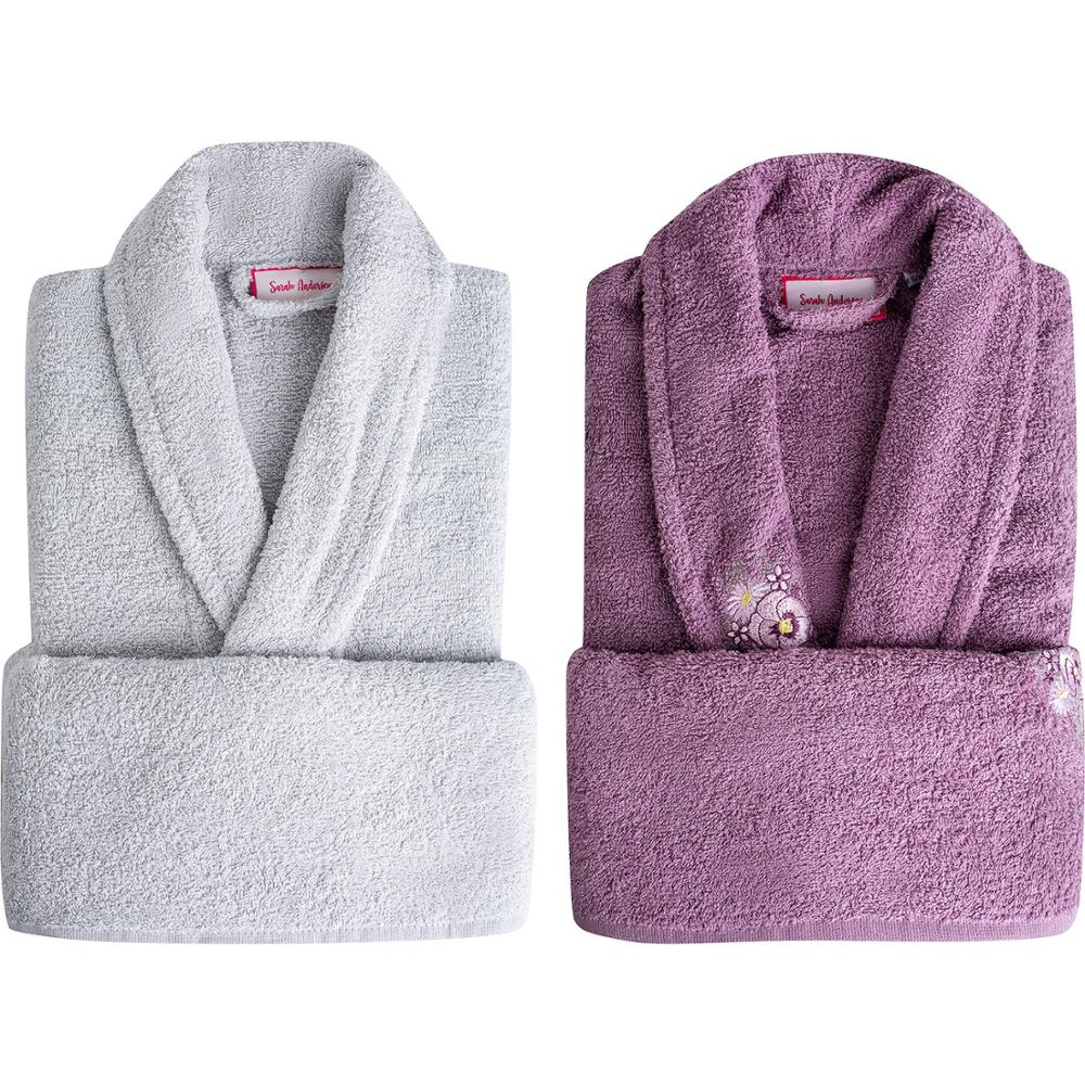 Sarah Anderson Peny 4 Piece Family Bath Set Bathrobe 100% Cotton