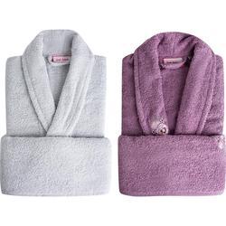 Sarah Anderson Peny 4 Piece Family Bath Set Bathrobe 100% Cotton