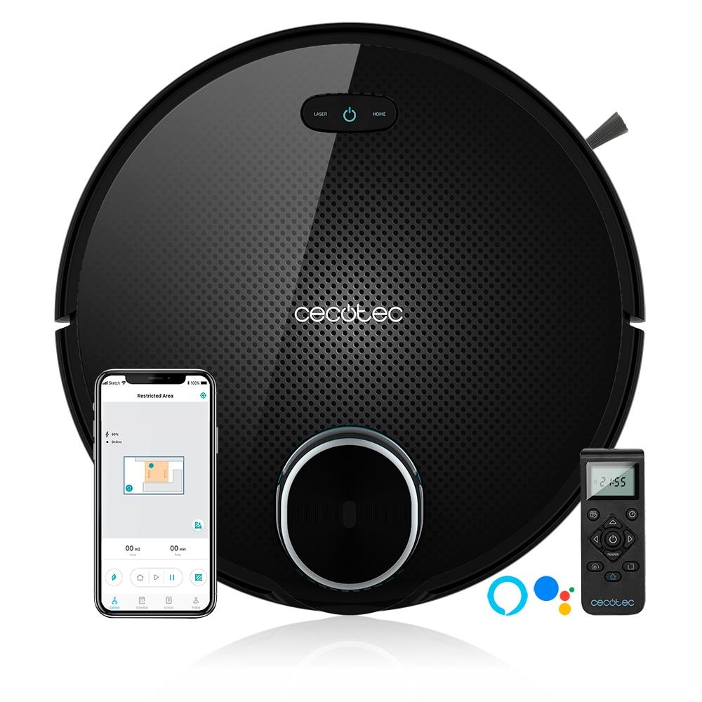 Cocotec robot vacuum cleaner conga 3090 series inteligente e poderoso para casa com laser itech 360 app planejada rota alexa