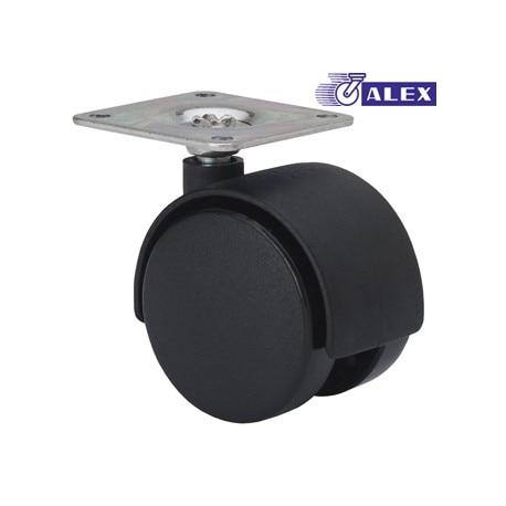 ROTATING WHEEL 040MM 1-0239 PL.050X050 020KG NEG DK BLACK ALEX
