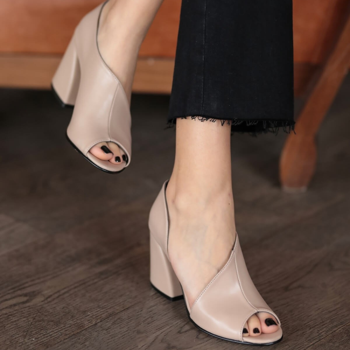 Mio Gusto Brand EVA, Black / Skin / Powder / White/Tan, top Selling 9Cm Heel height Women 's Quality Pumps Shoes