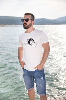 Angemiel Wear Elio Oliver Lineal Cotton White Men 'S T-Shirt image