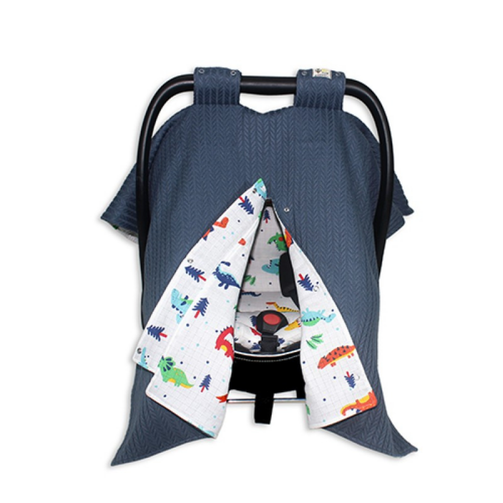 Baby Stroller Cover and Cushion 100% Organic Cotton Absorbent Property Long Lasting Up to 2 Years of Use Gift Box