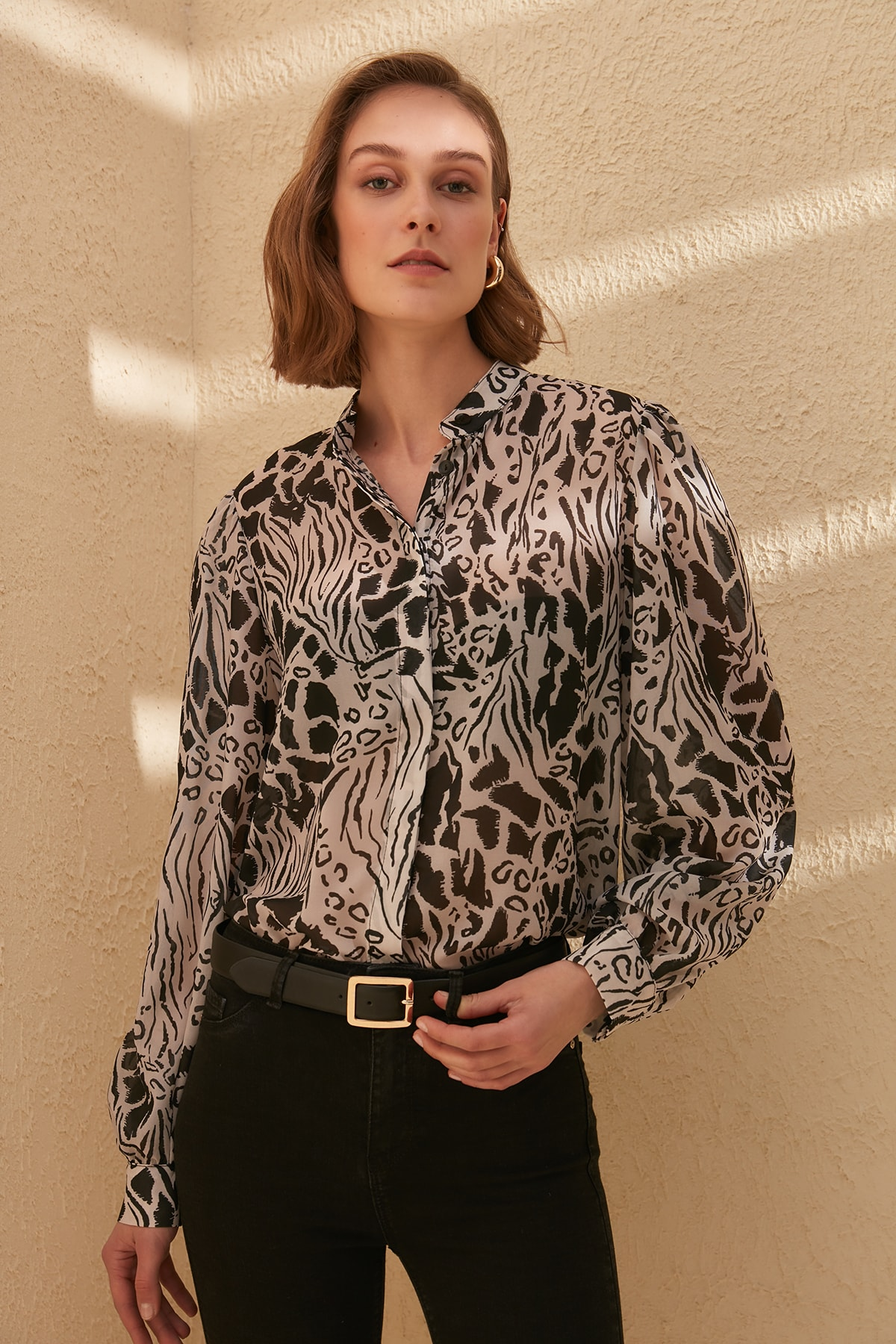 Trendyol Patterned Shirt TWOSS20GO0030