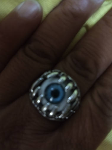RED BLUE Punk Evil Eyeball Ring photo review