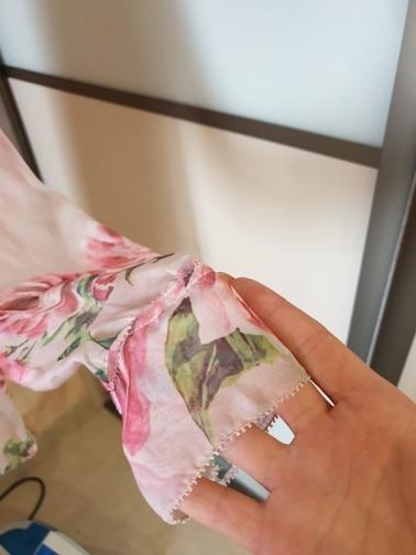 Spring Women'S Bow Collar Long Sleeves Floral Printed Elegant 100% Silk Runway Designer Shirts photo review