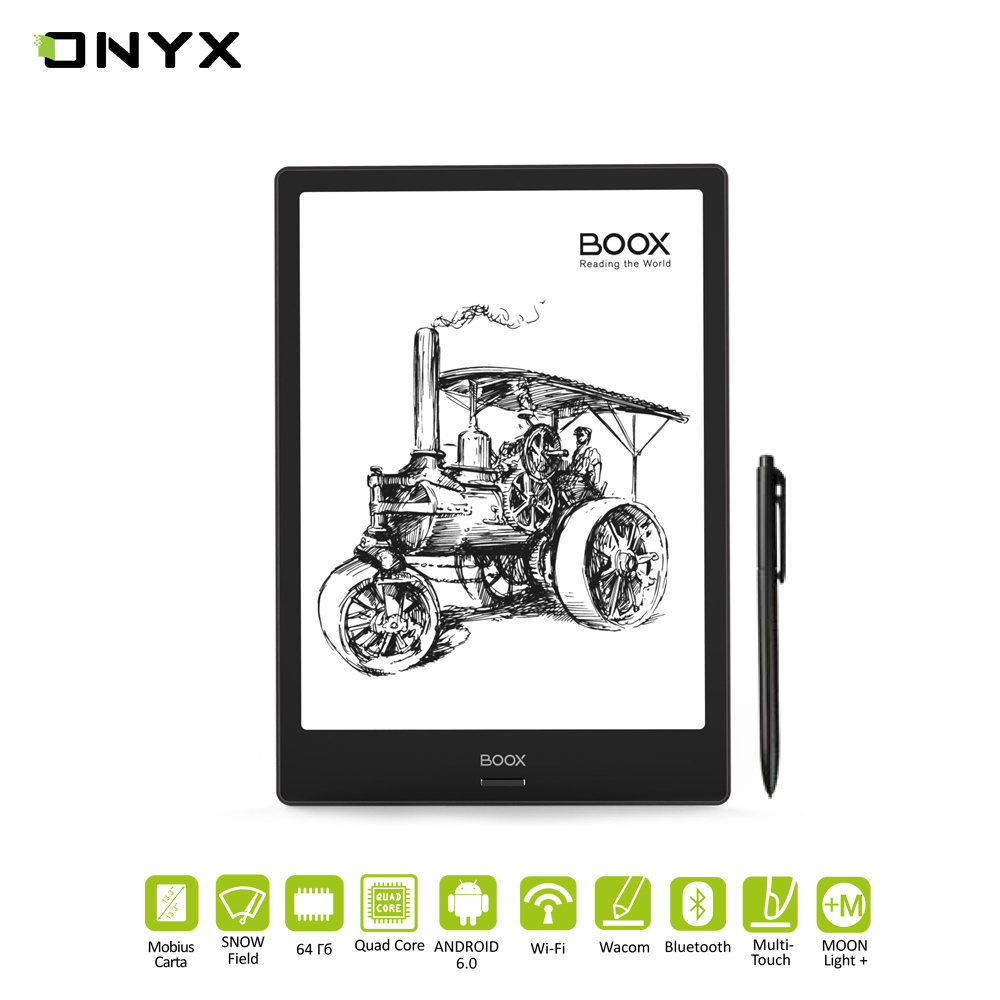 E-book ONYX BOOX Note Pro Touch screen, Large screen, The Presence Of Wi-Fi, Support MP3, bluetooth, school eReader цена и фото