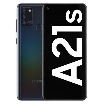 Перейти на Алиэкспресс и купить Телефон Samsung Galaxy A21s, черный (черный), внутренняя память 64 ГБ, ОЗУ 4 Гб, две sim-карты, экран 6,5 дюйма. П