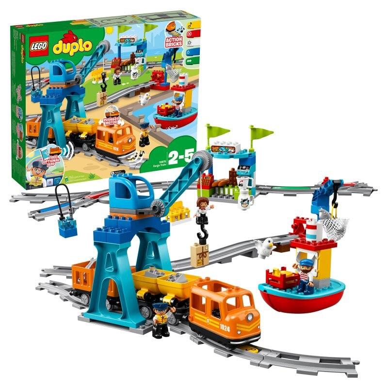 Конструктор LEGO DUPLO Town 10875 Грузовой поезд