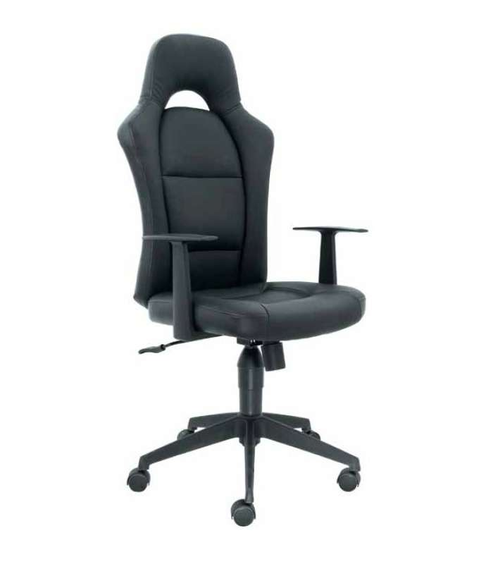 Swivel Chair Top With Arms Black