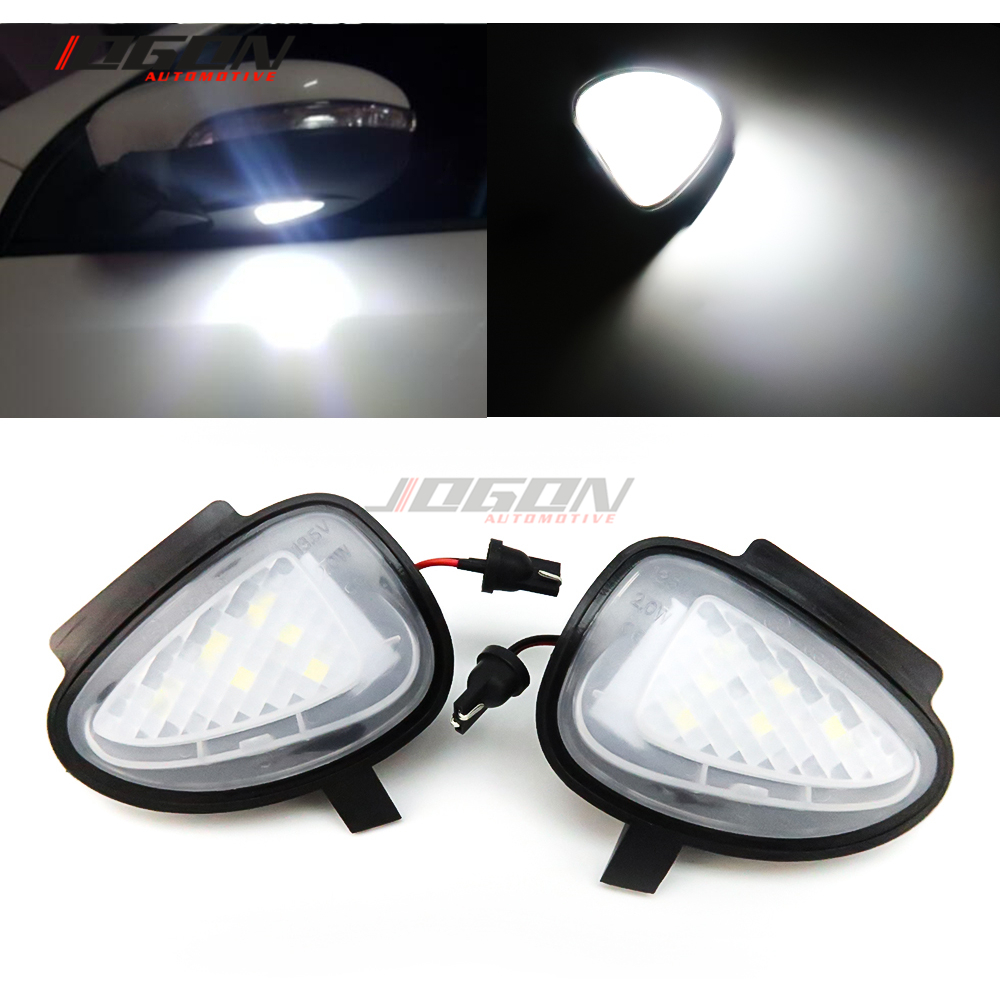 <font><b>LED</b></font> Side Wing Rearview Mirror Puddle Light Welcome Courtesy Lamp <font><b>Trim</b></font> For Volkswagen VW <font><b>GOLF</b></font> 6 MK6 GTI R32 2008-2014 Touran image