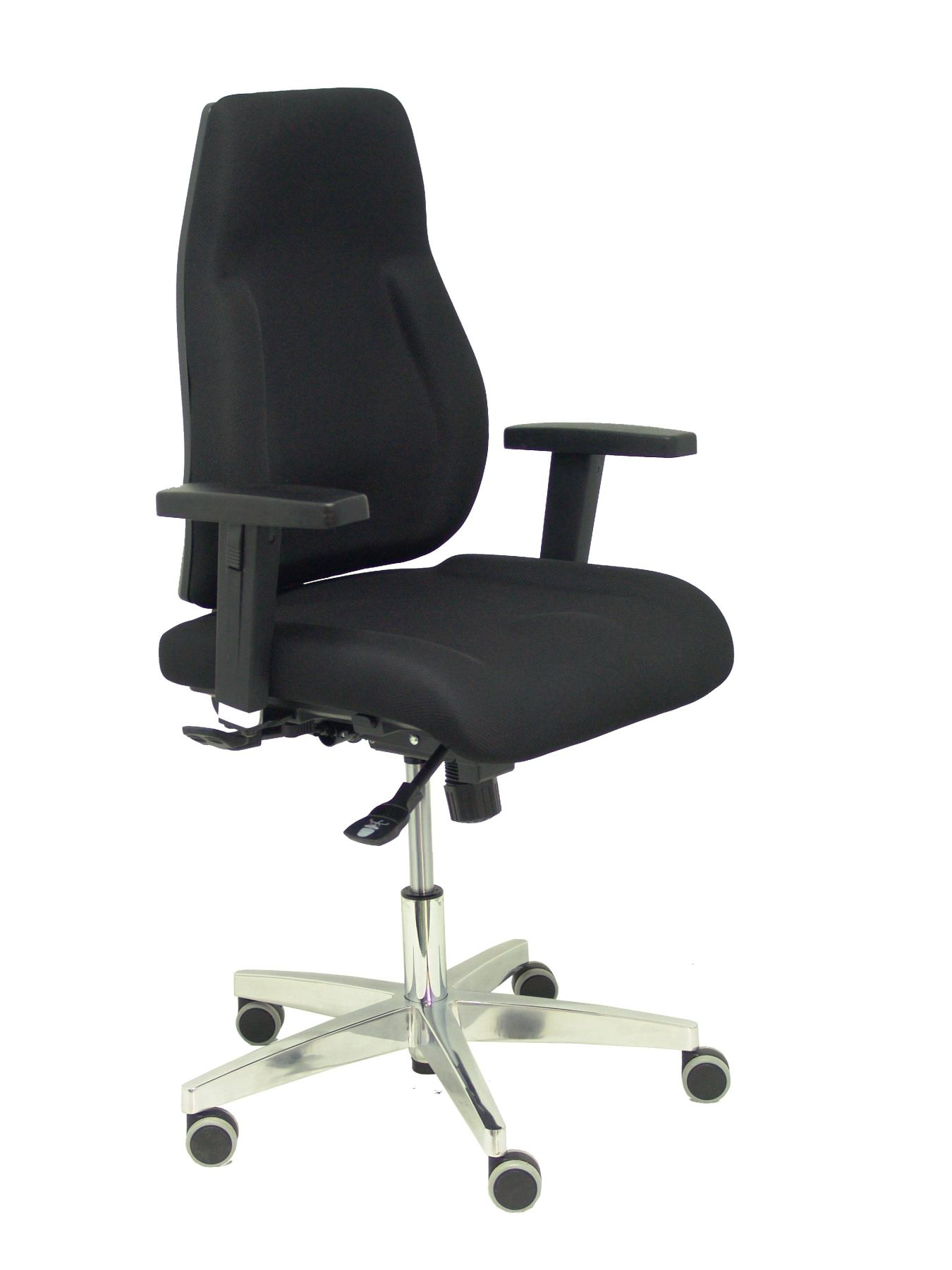 Ergonomic Office Chair With Mechanism Synchro And Traslak, Arms 3D Adjustable-Backrest And Seat Upholstered In Weaving Czech