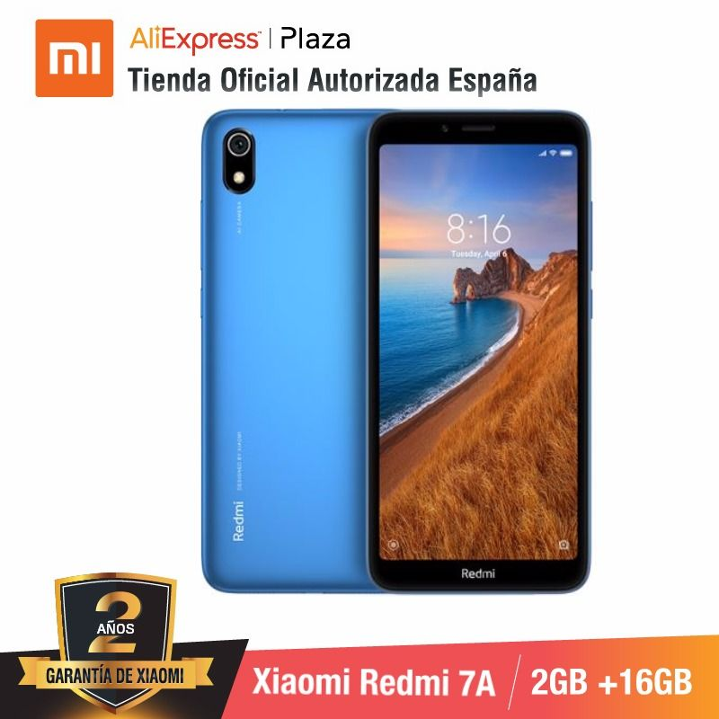 [Global Version For Spain] Xiaomi Redmi 7A (Memoria Interna De 16GB, RAM De 2GB, Camara De 13MP+5 MP)