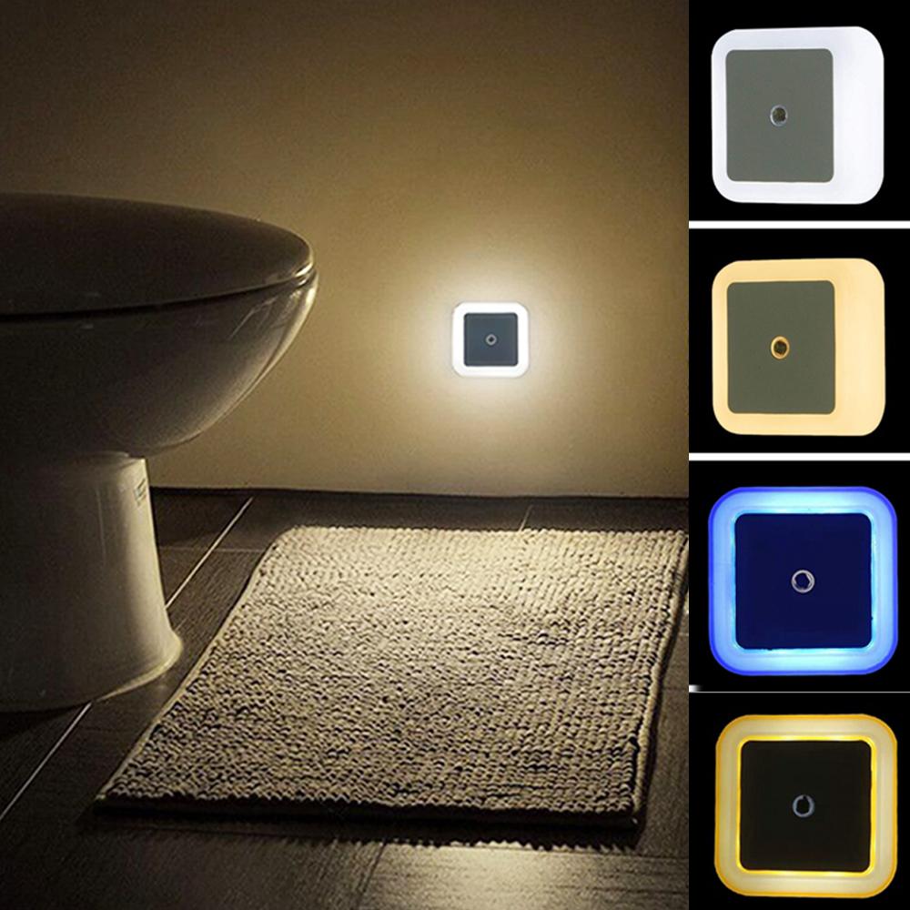 LED Night Light Mini Light Sensor Control 110V 220V EU US Plug Nightlight Lamp For Children Kids Living Room Bedroom Lighting