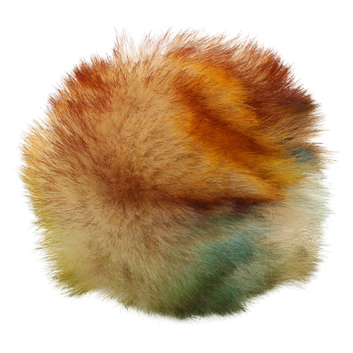 5as-269 Pompom Made Of Artificial Fur 12 Cm (4 Blue Multicolor)