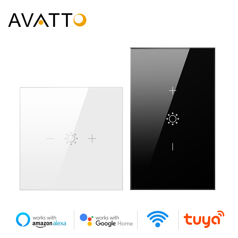 AVATTO Wifi Led Touch Dimmer Light Switch EU/US Tuya Remote Control Smart Strip Bulb Dimmer Switch Amazon Alexa Google Assistant