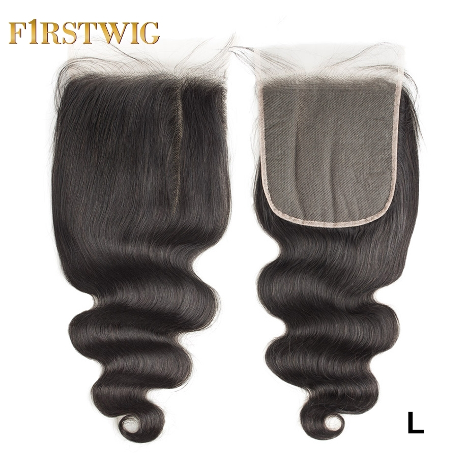 Brazilian Swiss/Transparent Lace Body Wave 6X6 Lace Closure Remy Pre Plucked Human Hair For Black Women Low Ratio Firstwig