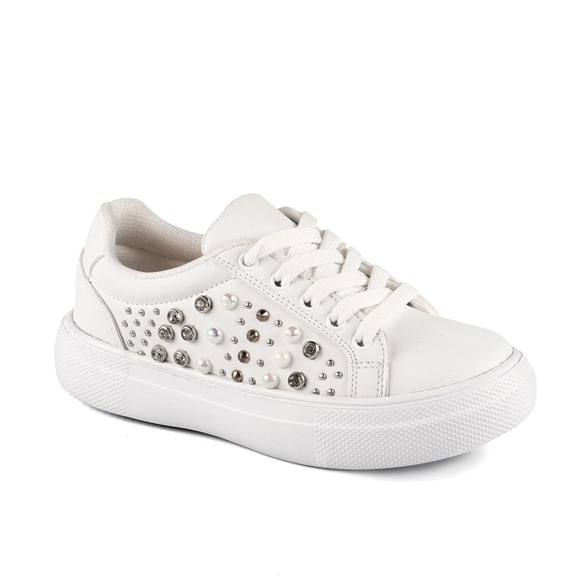 FLO 970.19Y.433 FILET White Female Child Thick Soled Sneaker VICCO
