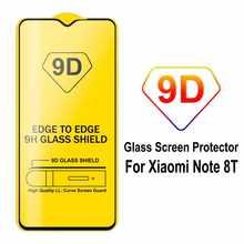 Protector de Pantalla para Xiaomi Redmi Note 8 Pro Cristal Templado 9H Vidrio Anti Golpes Arañazos Marco Borde Negro