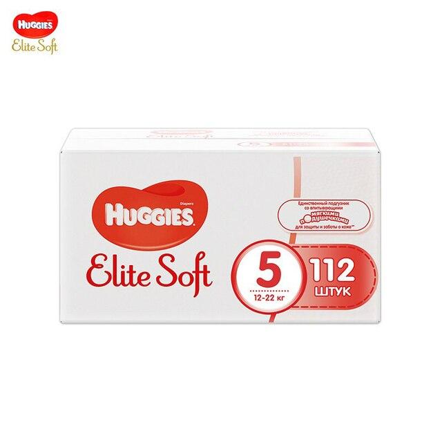 Подгузники Huggies Elite Soft 12-22 кг (размер 5) 112 шт