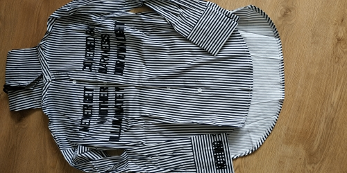 Kpop  Jimin Striped Shirt Bangtan Boys Wings Fansigning Embroidery Blouse photo review