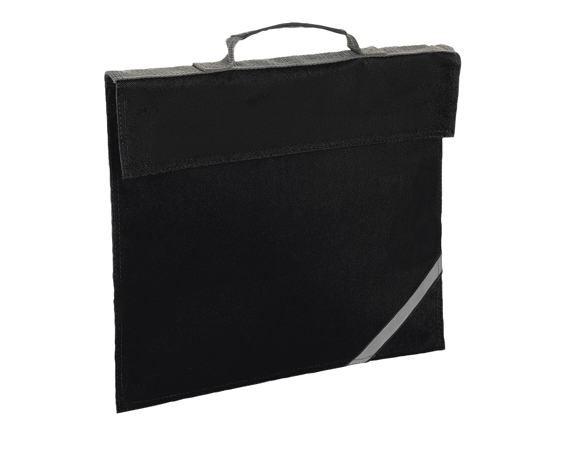 BLACK WALLET DOCUMENTS OXFORD WITH REFLECTIVE STRIP