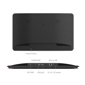Image 4 - 10.1 inch Android PoE Wall mounted tablet pc with LED bars for conference meeting room schedule display open source, rooted